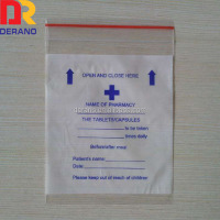 LDPE resealable reclosable plastic zipper medical bag