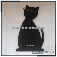2017 hot sale new arrival custom made cat shape hanging black board for kids