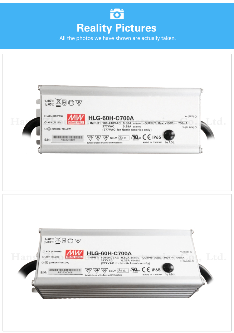 Meanwell 60W 700mA Single Output electronic led driver/constant current LED driver/pwm dimmable led driver