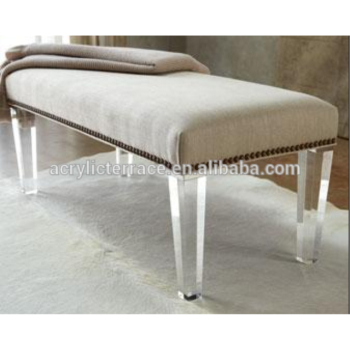 waterfall clear acrylic bench lucite furniture