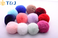 >>>2016 Hot Sale Fashion Women Girls Pom Pom Keychain Bulk Simple Fur Plush Pendant Ornaments Key Chain/