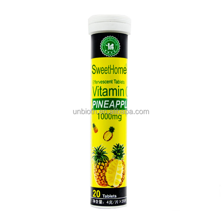 Immune health product Powerful VC boost 1000mg Vitamin C effervescent tablets Pineapple