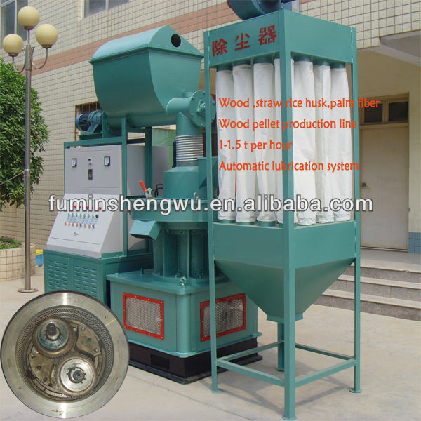 Green color automation wood pellet making machine price