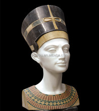 Natural Stone Bust Statue, stone Egypt head sculpture
