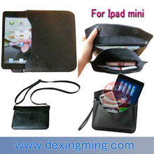 Genuine Leather shoulder bag case for Ipad mini 7.9 inch accessories