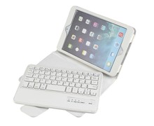 For iPad Mini Blue Tooth Wireless Detachable Keyboard + Leather Stand Case-SPM01
