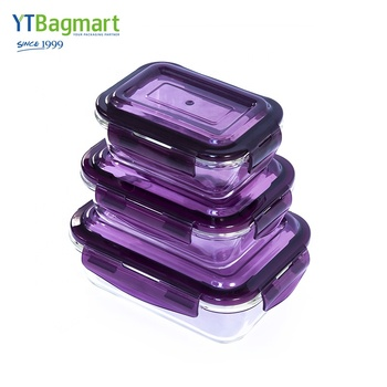 Wholesale Heat Resistance Lock&Lock Glass Lunch Box Borosilicate Glass Containers for Food Storage