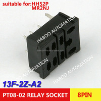 13F-2Z-A2 omron relay socket PT08-0 similar 8 pins PCB type relay socket for LY2 HH62P LY2NJ JQX-13F relay switch series