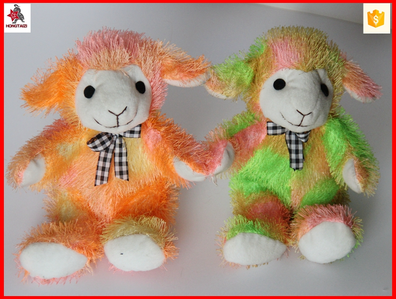 25cm colorful sheep plush toy with CE and EN71