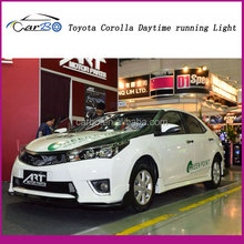 2014 high power LED DRL daytime running lights used Toyota Corolla,100% waterproof&safty installation