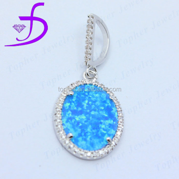 Top Quality 925 Sterling Silver Jewelry silver pendant with fire opal stone