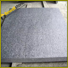Export Australia granite flamed barocco 30x30 black paving stone