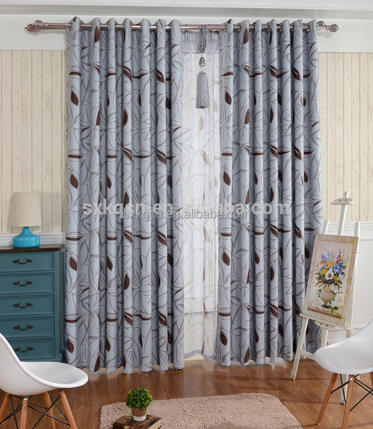 New products hotel blackout lively style velvet embroidered curtains