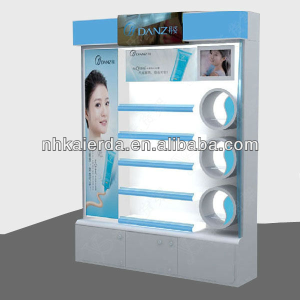 skin care products display