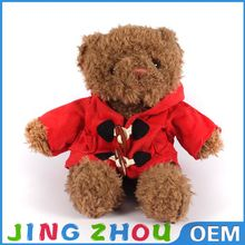 China high quality custom plush bear doll ,soft bear with red shirt