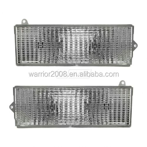 84-96 Jeep Cherokee Clear Turn Signal Bumper Park Lights Lamp 56000099 56000098