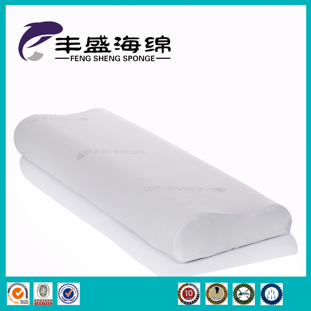 The wave shape memory foam big pillow with sleeping gas