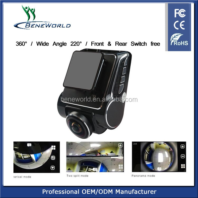 New arrival 360degree panorama 1080p car dvr with 24hours parking monitor