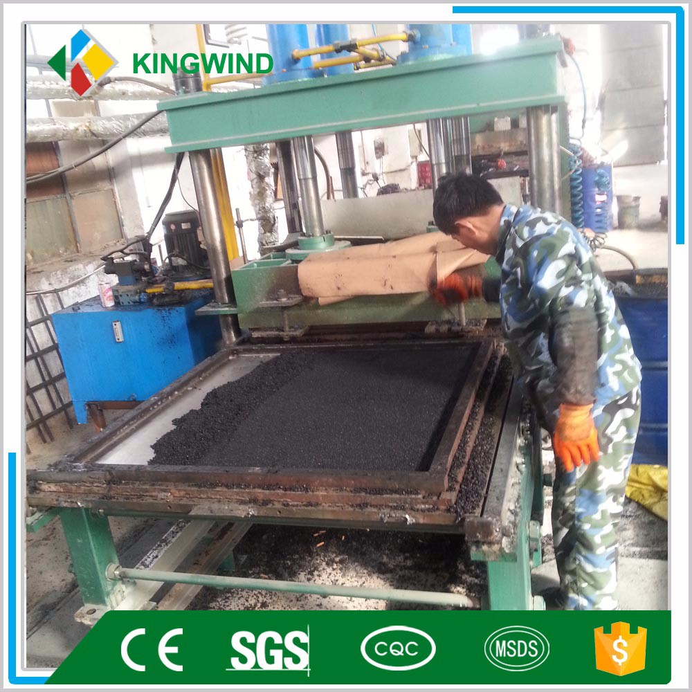 plate curing press /rubber floor tile making machine
