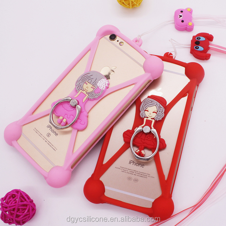 Promotional Gift Silicone Lanyard Cell Phone Case For iPhone