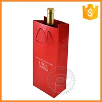 Professional printing wine packaging paper bag for shopping