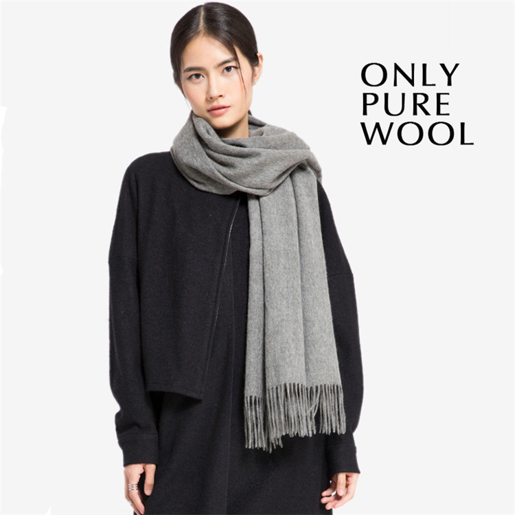 Fashion high quality pure color wool <strong>scarf</strong>