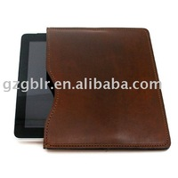 supply newest style leather case for ipad2 and soft calf leather case for Ipad3