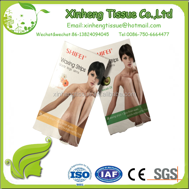 disposable depilatory tool body hair removal wax strip