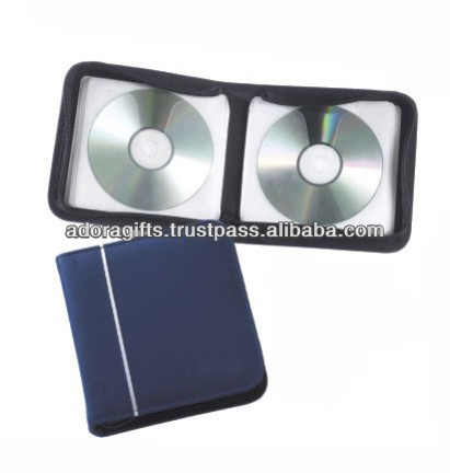 ADACD - 0003 10mm black double leather wedding dvd case