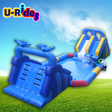 New Theme Giant inflatable Slide Rides Water Play Park Attractions For Sale