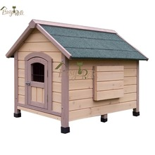 Factory supply cheap price wooden dog kennel with door