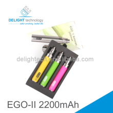 Alibaba new Technology e cig ego battery/ ego ii battery/ ego ii 2200mah battery in stock