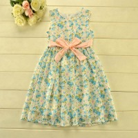 YD2004 beautiful dress children summer flower girl dress