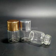 empty mini 5ml clear/frosted glass tube vial,Perfume oil Trial Bottle,essential oil sample glass bottle with 18mm neck screw cap