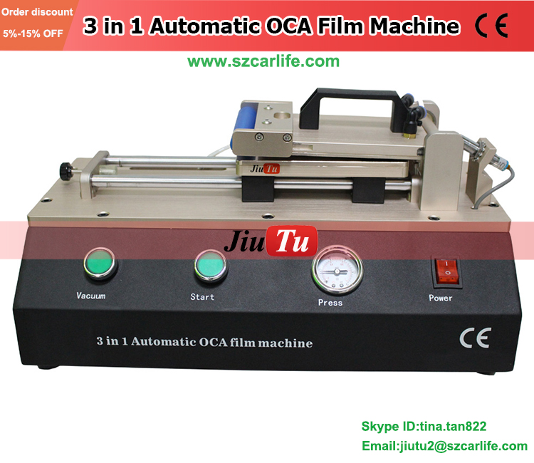 3 in 1 Automatic OCA Machine Laminator Built In Air Compressor And Vacuum Pump Fit for All Smart Phone LCD Screen Under 7 inch