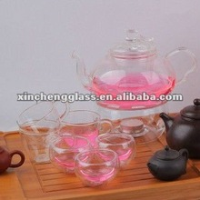 HOT!!! Handmade process pyrex glass tea pot set