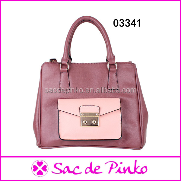 high end quality purple leather handbags fashion women handbag dropship paypal