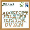 educational mini wooden laser cutting letters kid learning toys