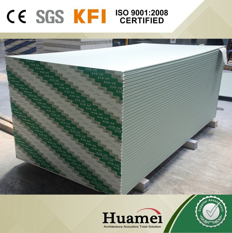 wood fiber reinforced gypsum board used as partition systems gypsum board/water