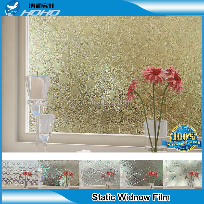 One way window film stained glass printing adhesive for 1 way window film