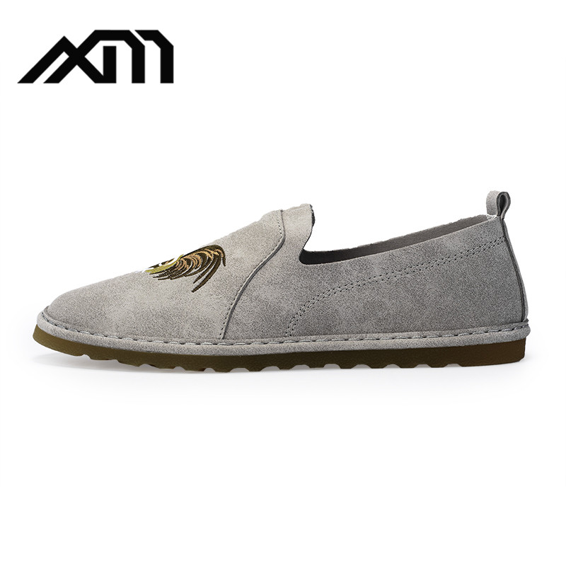 Suede leather moccasin retro casual shoes for <strong>men</strong>