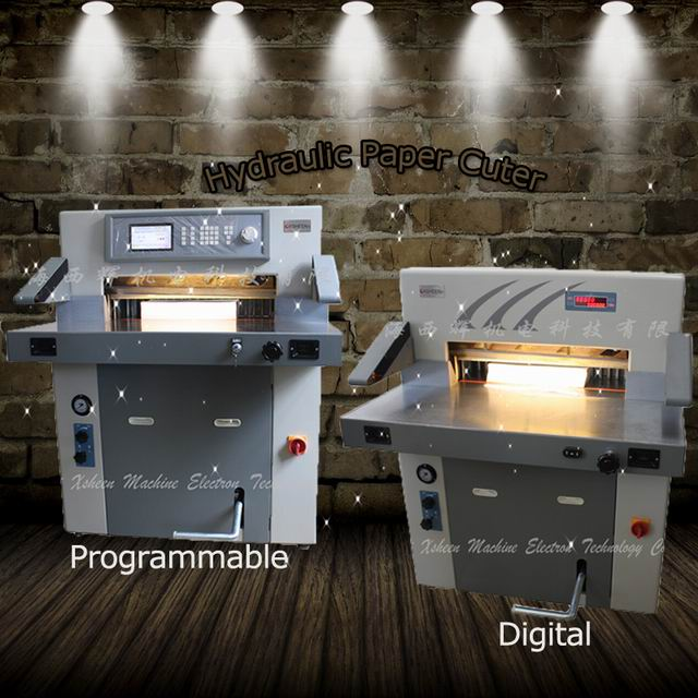 Hydraulic program digital stack paper trimming machine company
