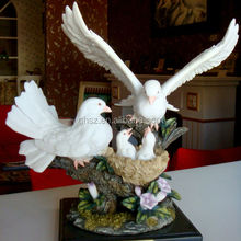 Resin Crafts,High Quality Craft Resin Carved Dove, 2014 Hot Selling