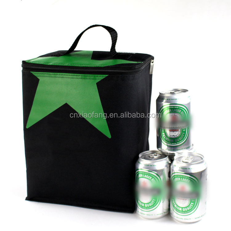 Tote style 6 cans insulated beer cooler bag for promotion