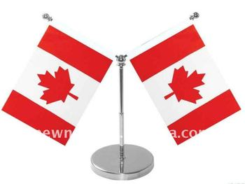 Canada desk table flag can make 1/2/3/4 face.