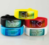 1GB - 128GB Capacity and Silicone Material silicone bracelet led watch usb flash drive