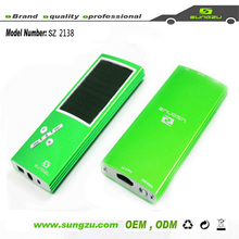 fancy and cheap Sungzu factory solar mp3 player