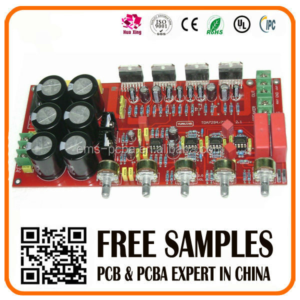 Factory price high quality fr4 94v0 circuit audio amplifier pcb board manufacturer