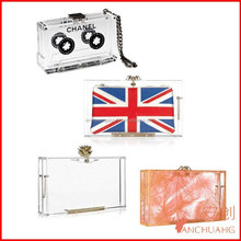 acrylic clutch bag_lucite evening bags