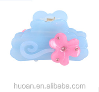 Wholesale latest fashion korean acrylic girl hair accessory hair clamp for stock